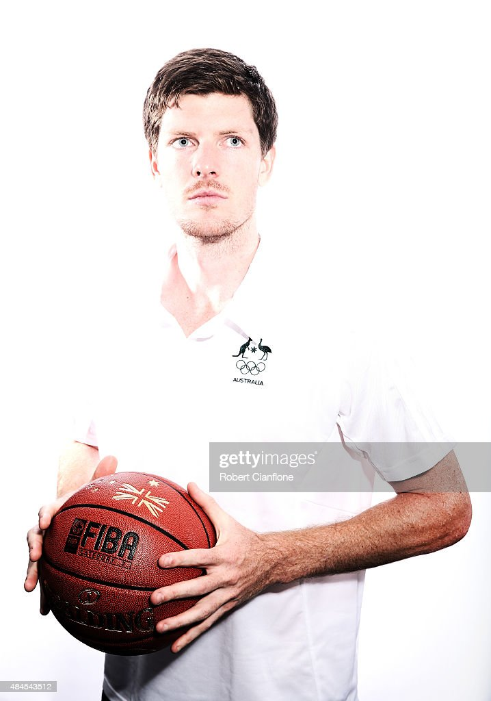 Cameron Gliddon poses during an Australian Boomers Basketball team portrait session at The Blackman Hotel on August 20, 2015 in Melbourne, Australia.