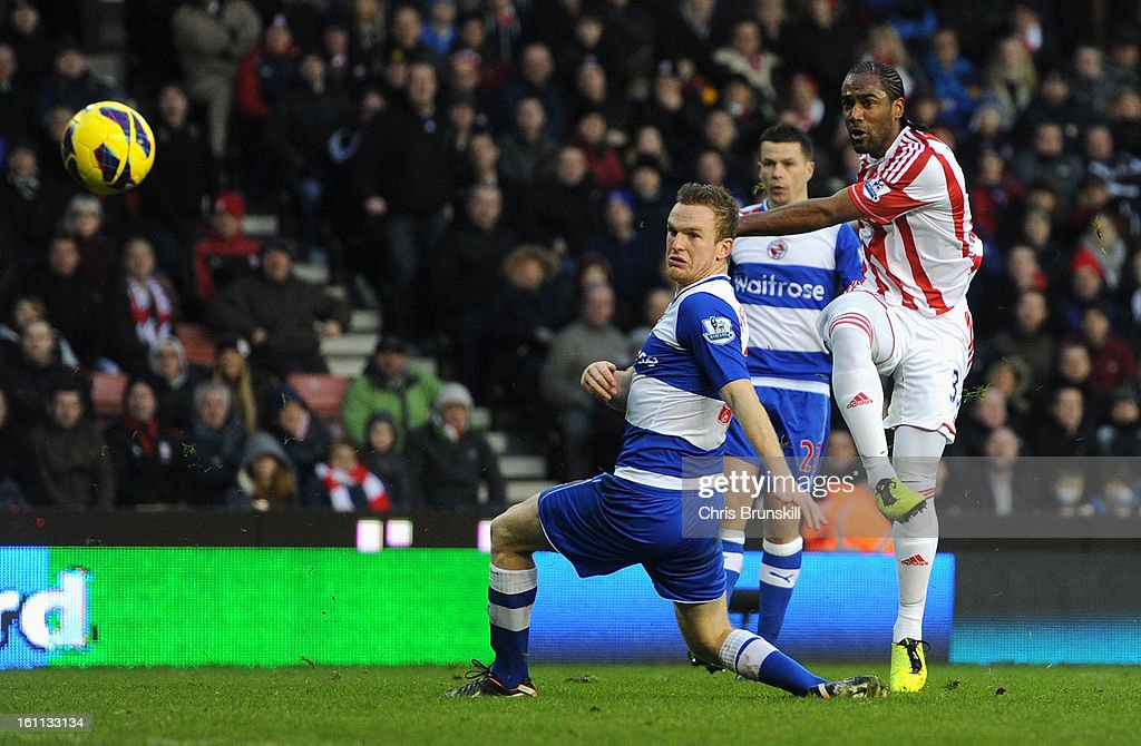 <a gi-track='captionPersonalityLinkClicked' href=/galleries/search?phrase=Cameron+Jerome&family=editorial&specificpeople=815275 ng-click='$event.stopPropagation()'>Cameron Jerome</a> of Stoke City scores his team's second goal during the Barclays Premier League match between Stoke City and Reading at the Britannia Stadium on February 9, 2013, in Stoke-on-Trent, England.