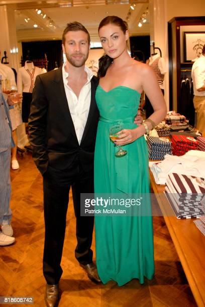 Cameron Lamb and Rebecca Doyle attend Brooks Brothers and Social Primer Bow Tie Launch at Brooks Brothers on June 2 2010 in Beverly Hills California