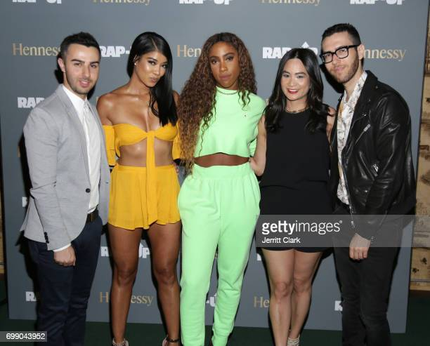 Cameron Lazerine Mila J Sevyn Steeter ThuyAnh J Nguyen Hennessy West Coast Marketing Manager and Devin Lazerine attends the RapUp 3rd Annual PreBET...