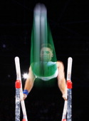 Cameron Mackenzie of South Africa competes in the Parallel Bars during the Men'sTeam Final at SECC Precinct during day six of the Glasgow 2014...