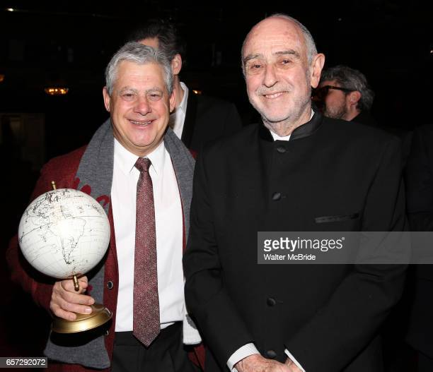 Cameron Mackintosh and ClaudeMichel Schonberg during The Opening Night Actors' Equity Gypsy Robe Ceremony honoring Catherine Ricafort for the New...