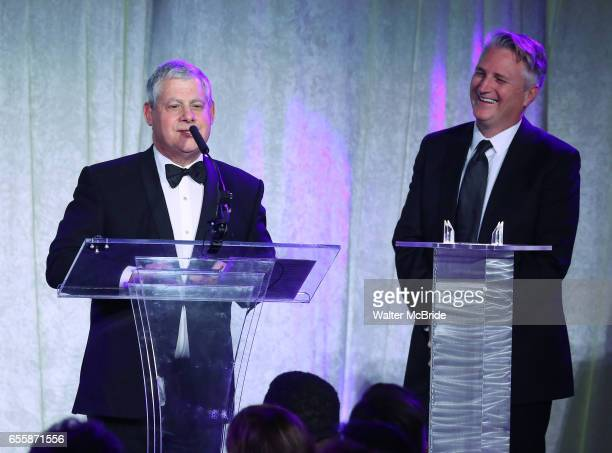 Cameron Mackintosh and Eric Schaeffer during the 2017 Sondheim Award Gala at the Italian Embassy on March 20 2017 in Washington DC