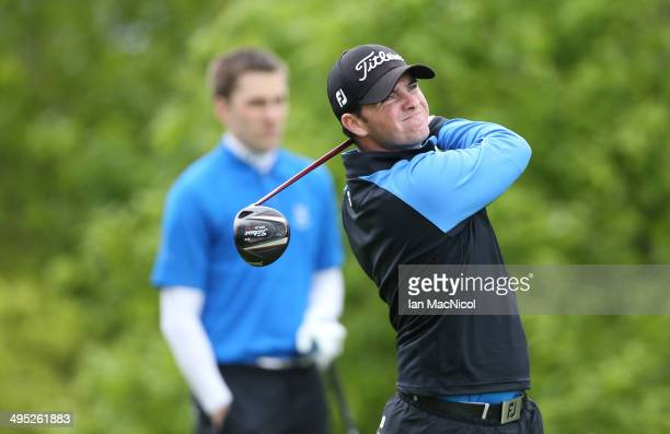 KINGDOM JUNE 02 Cameron Marr of Musselburgh Golf Club tee's off at the first during the Powerade PGA Assistants' Championship Scottish Regional...