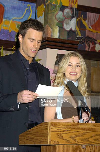 Cameron Mathison and Bree Williamson during The 32nd Annual Daytime EMMY Awards Nomination Announcements at CBS Guiding Light Stages in New York City...