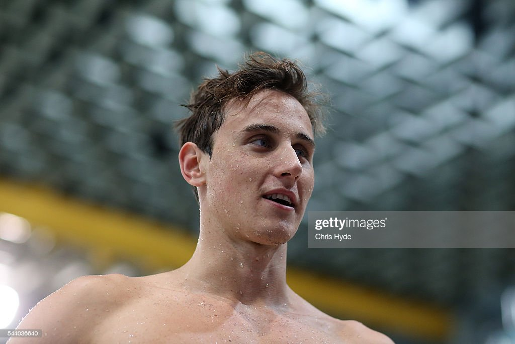 <a gi-track='captionPersonalityLinkClicked' href=/galleries/search?phrase=Cameron+McEvoy&family=editorial&specificpeople=8602091 ng-click='$event.stopPropagation()'>Cameron McEvoy</a> after winning the 100 Metre Freestyle during the 2016 Australian Swimming Grand Prix at the Chandler Sports Centre on July 1, 2016 in Brisbane, Australia.