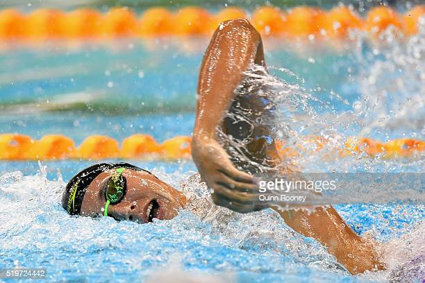 Cameron McEvoy of Australia competes in the Men's 200 Metre Freestyle during day two of the 2016 Australian Swimming Championships at the South...