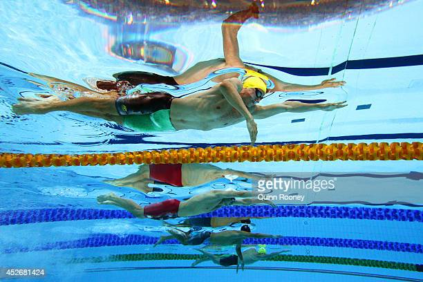 Cameron McEvoy of Australia competes in the Men's 200m Freestyle Final at Tollcross International Swimming Centre during day two of the Glasgow 2014...