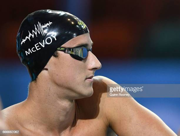Cameron McEvoy of Australia prepares to race in the Men's 200m Freestyle during the 2017 Australian Swimming Championships at the Sleeman Sports...