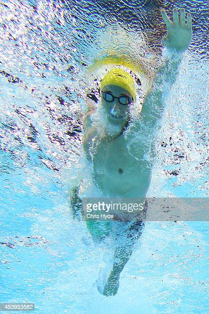 Cameron McEvoy of the Australia swims the Men's 4x200m Freestyle Relay Final during day two of the 2014 Pan Pacific Championships at Gold Coast...