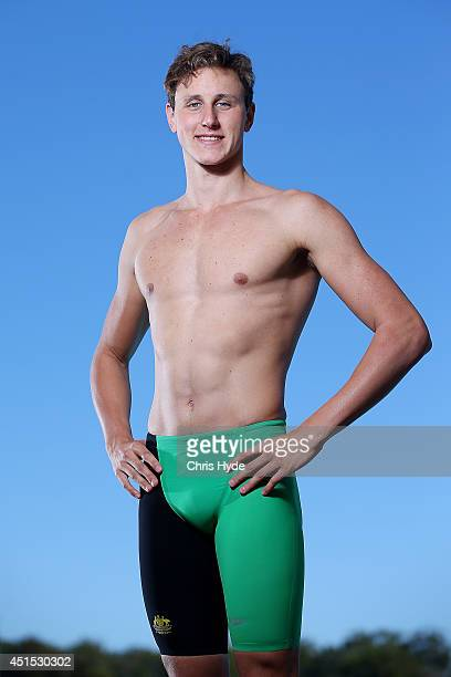 Cameron McEvoy poses during the Australian Commonwealth Games Swim Team Speedo Uniform Launch at The Southport School on July 1 2014 in Brisbane...