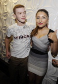 Cameron Monaghan and Jennessa Rose attend the Surprise Party for Caitlin Beadles and the Launch of Caitlin's Foundation 'Caitlin's Vine Of Bravery'...