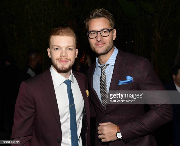 Cameron Monaghan and Justin Hartley attend the 2017 GQ Men of the Year party at Chateau Marmont on December 7 2017 in Los Angeles California