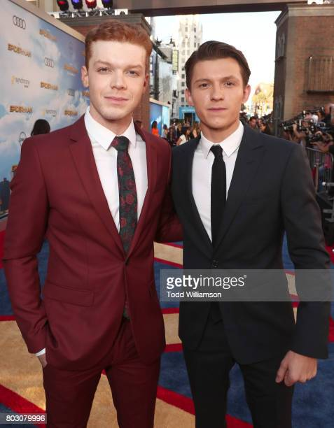 Cameron Monaghan and Tom Holland attend the premiere of Columbia Pictures' 'SpiderMan Homecoming' at TCL Chinese Theatre on June 28 2017 in Hollywood...