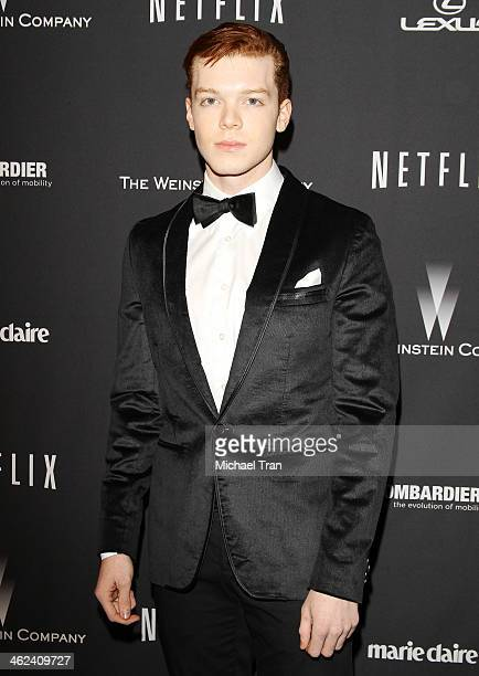 Cameron Monaghan arrives at The Weinstein Company and NetFlix 2014 Golden Globe Awards after party held on January 12 2014 in Beverly Hills California