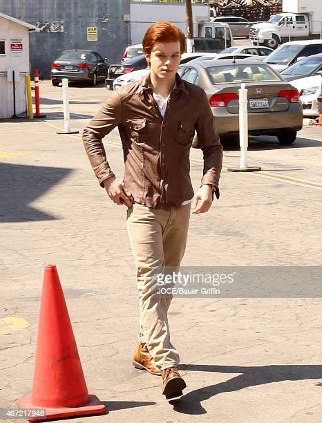 Cameron Monaghan is seen in Los Angeles on March 21 2015 in Los Angeles California