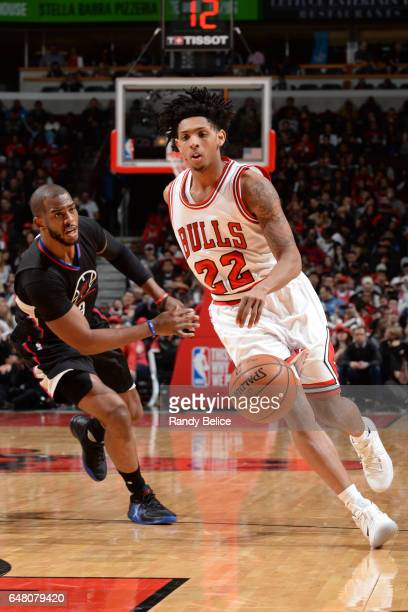 Cameron Payne of the Chicago Bulls handles the ball against the LA Clippers on March 4 2017 at the United Center in Chicago Illinois NOTE TO USER...