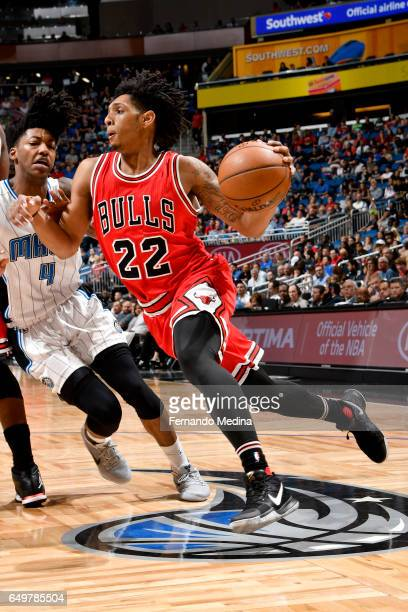 Cameron Payne of the Chicago Bulls handles the ball against the Orlando Magic on March 8 2017 at Amway Center in Orlando Florida NOTE TO USER User...