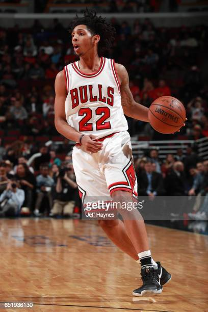 Cameron Payne of the Chicago Bulls handles the ball against the Houston Rockets on March 10 2017 at the United Center in Chicago Illinois NOTE TO...