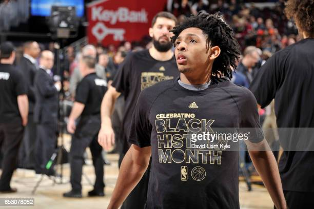 Cameron Payne of the Chicago Bulls is seen before the game against the Cleveland Cavaliers on February 25 2017 at Quicken Loans Arena in Cleveland...