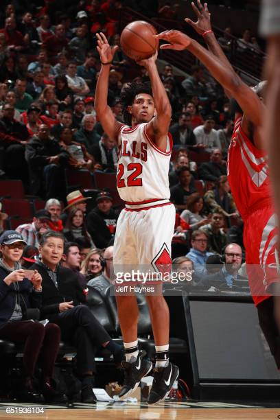 Cameron Payne of the Chicago Bulls shoots the ball against the Houston Rockets on March 10 2017 at the United Center in Chicago Illinois NOTE TO USER...