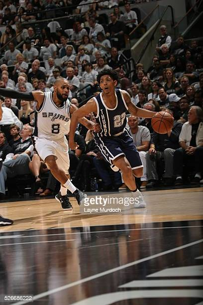 Cameron Payne of the Oklahoma City Thunder handles the ball against the San Antonio Spurs in Game One of Western Conference Semifinals of the 2016...