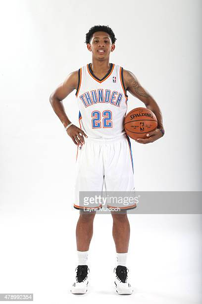 Cameron Payne of the Oklahoma City Thunder poses for a portrait on June 27 2015 at Devon Tower in Oklahoma City Oklahoma NOTE TO USER User expressly...