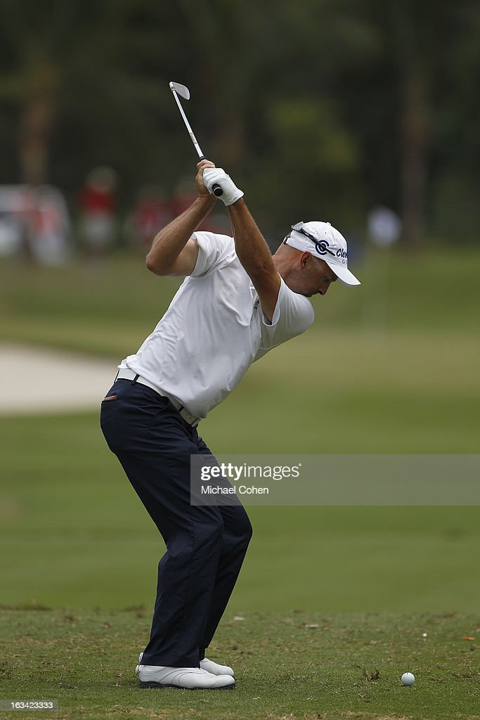 Cameron Percy of Australia hits his tee shot on the sixth hole during the third round of the Puerto Rico Open presented by seepuertorico.com held at Trump International Golf Club on March 9, 2013 in Rio Grande, Puerto Rico.