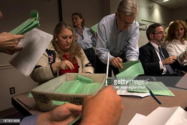 Cameron Quinn general registrar for Fairfax County Patty Reilly special asst to the general registrar Patrick Hart election employee Seth Stark...