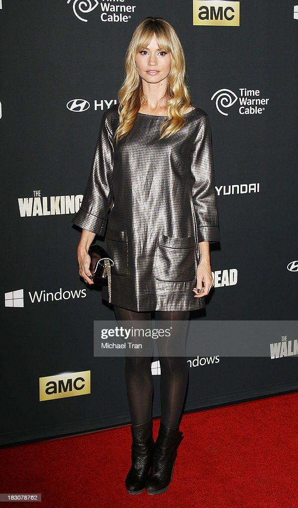 Cameron Richardson arrives at the Los Angeles premiere of AMC's 'The Walking Dead' 4th season held at Universal CityWalk on October 3, 2013 in Universal City, California.