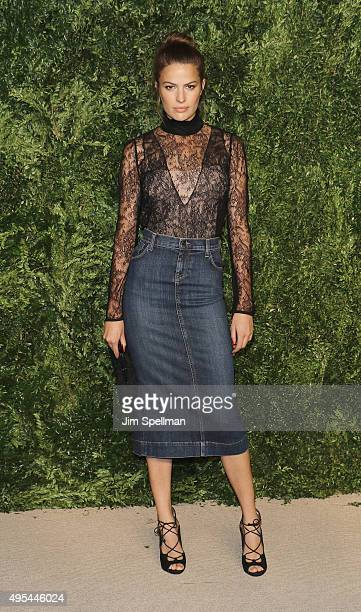 Cameron Russell attends the 12th annual CFDA/Vogue Fashion Fund Awards at Spring Studios on November 2 2015 in New York City