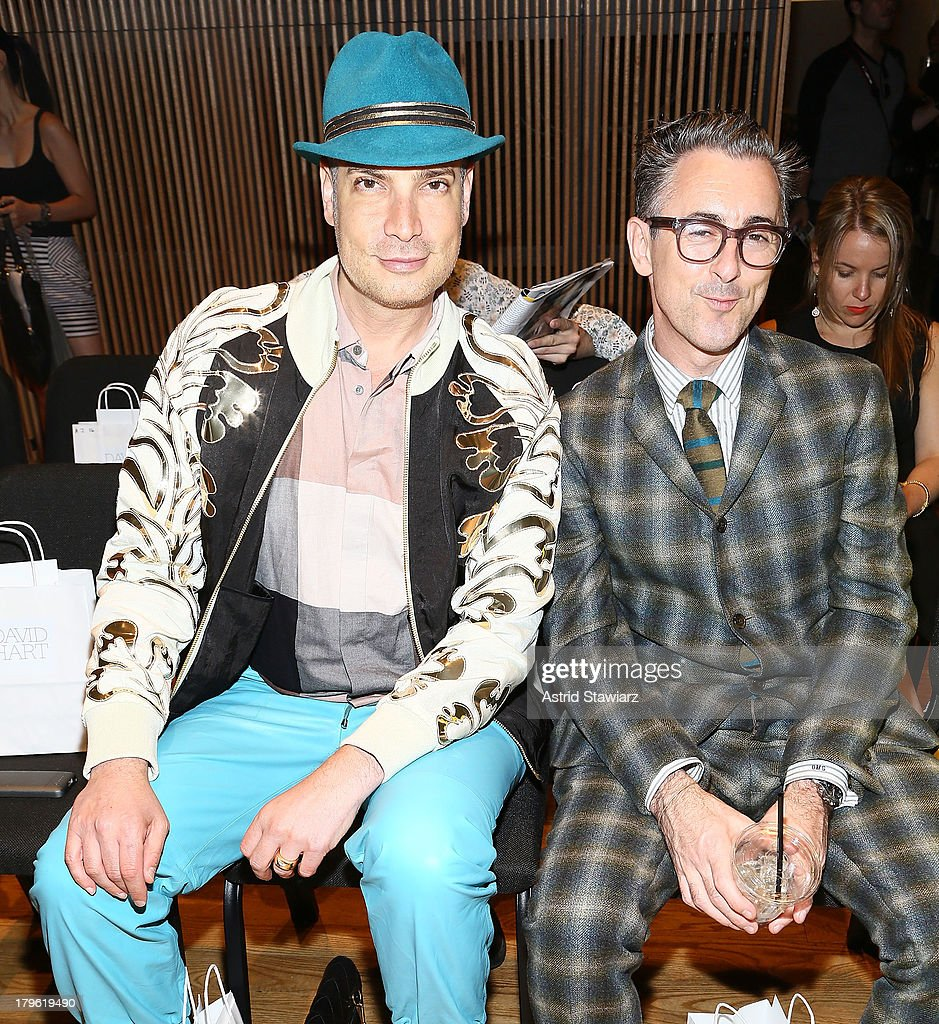 Cameron Silver and Alan Cumming attend the David Hart fashion show during Mercedes-Benz Fashion Week Spring 2014 at the DiMenna Center on September 5, 2013 in New York City.