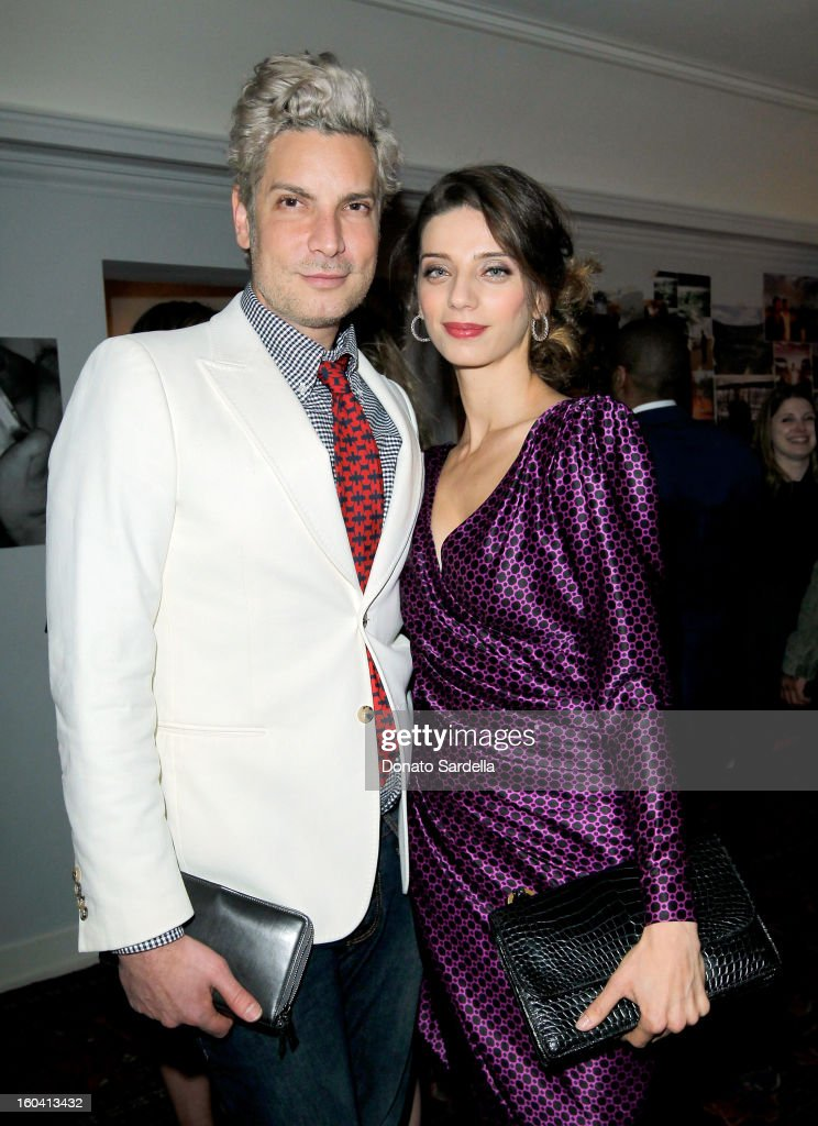 Cameron Silver (L) and Angela Sarafyan attend Hoorsenbuhs for Forevermark Collection cocktail party at Chateau Marmont on January 30, 2013 in Los Angeles, California.