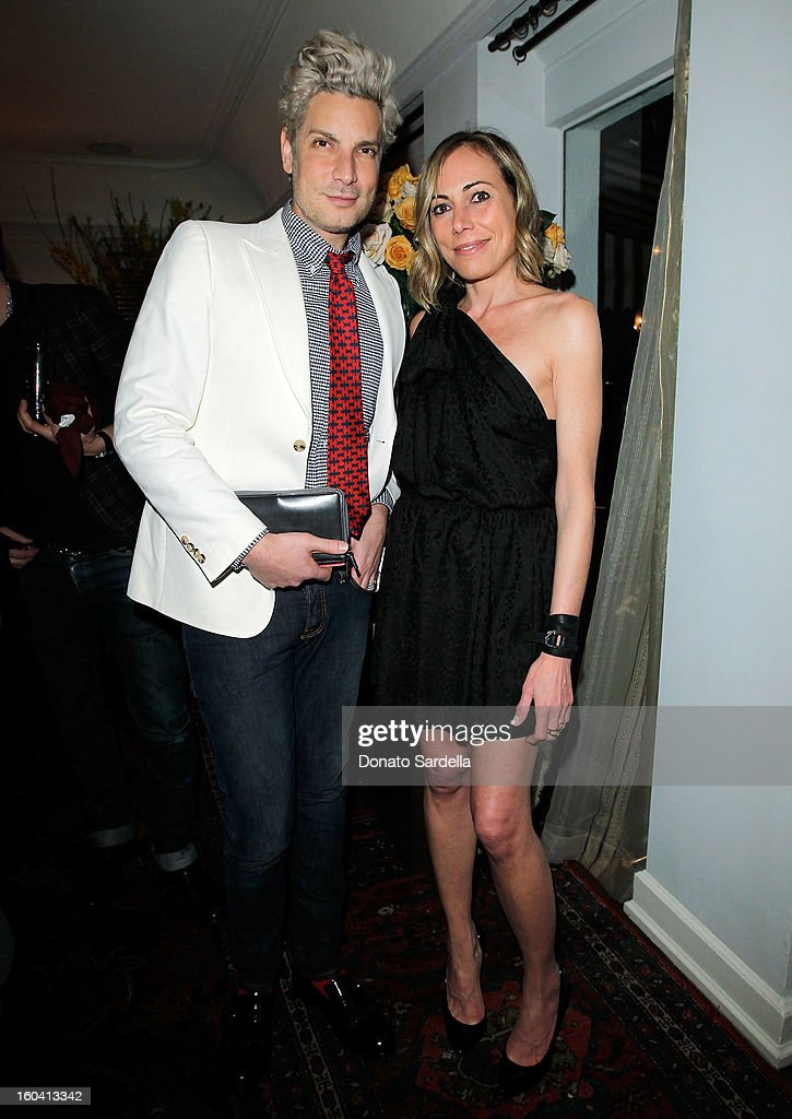 Cameron Silver (L) and Angelique Soave attend Hoorsenbuhs for Forevermark Collection cocktail party at Chateau Marmont on January 30, 2013 in Los Angeles, California.