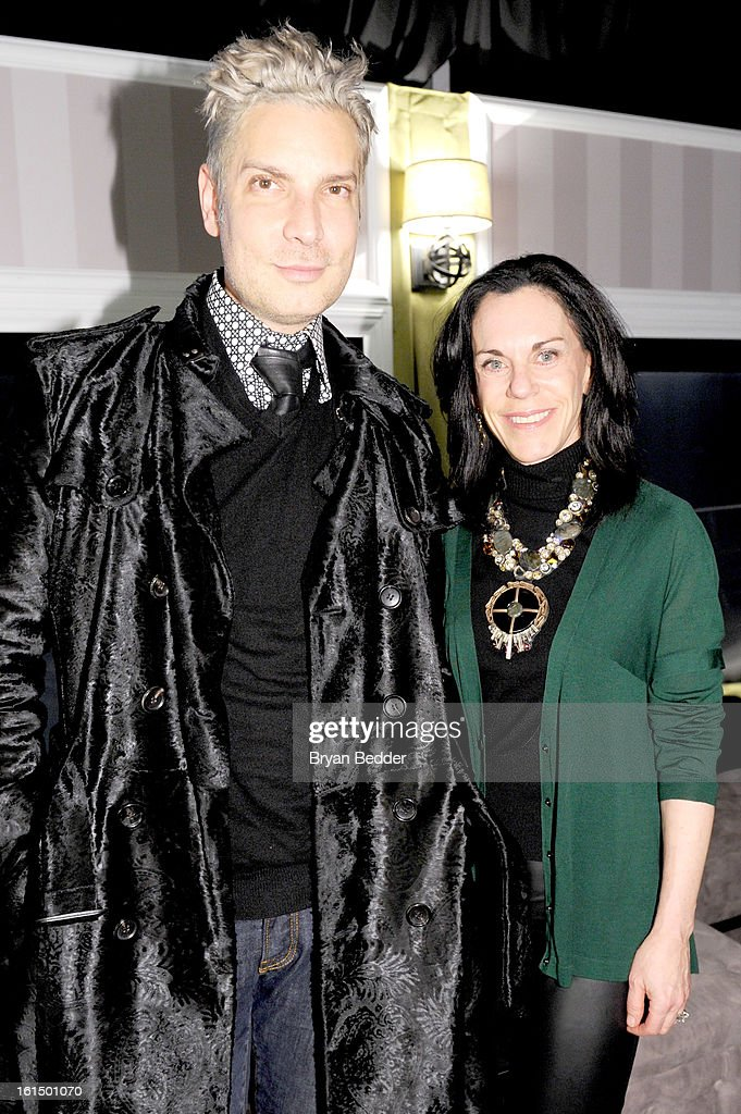 <a gi-track='captionPersonalityLinkClicked' href=/galleries/search?phrase=Cameron+Silver&family=editorial&specificpeople=546426 ng-click='$event.stopPropagation()'>Cameron Silver</a> (L) and Caryn Lerner attend American Express at Mercedes Benz Fashion Week Fall 2013 at Lincoln Center on February 11, 2013 in New York City.