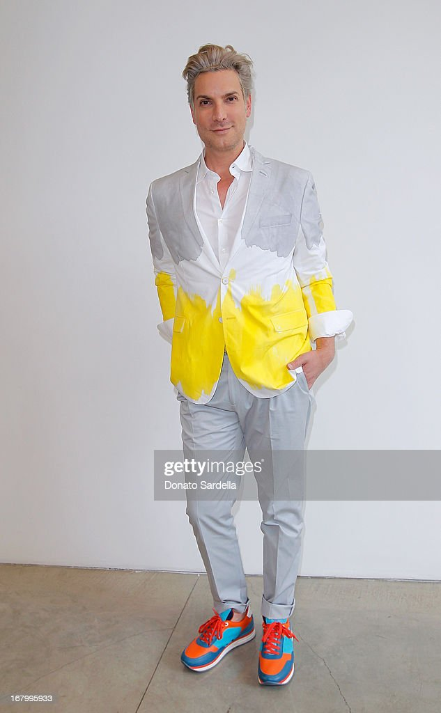 Cameron Silver attends a cocktail reception hosted by Ferragamo to announce the inaugural opening gala for the Wallis Annenberg Center for the Performing Arts at Gagosian Gallery on May 3, 2013 in Beverly Hills, California.