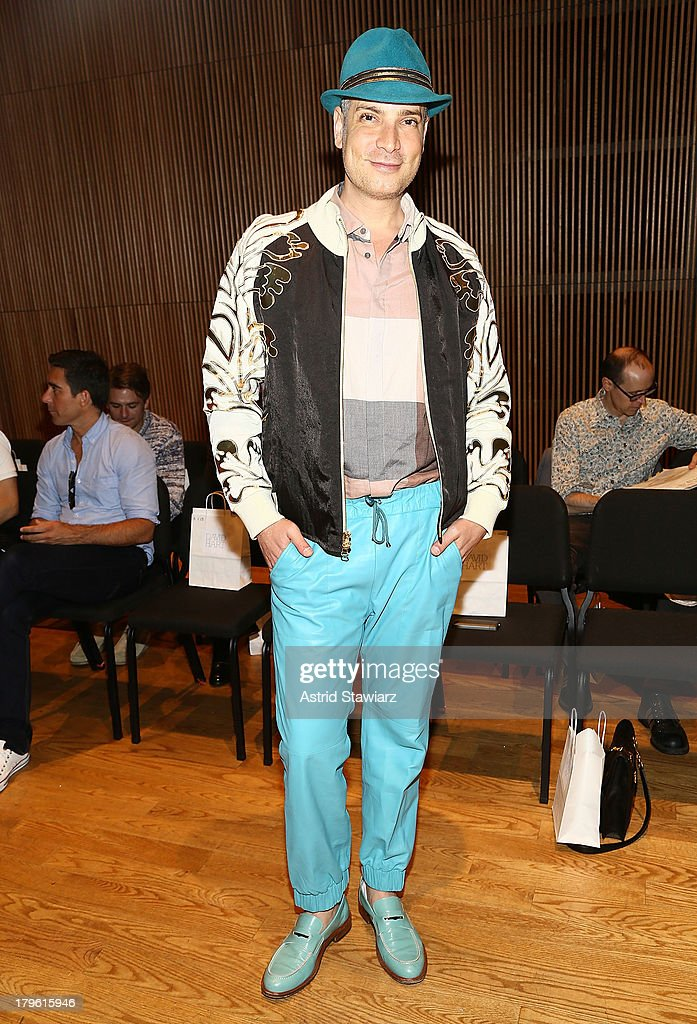 <a gi-track='captionPersonalityLinkClicked' href=/galleries/search?phrase=Cameron+Silver&family=editorial&specificpeople=546426 ng-click='$event.stopPropagation()'>Cameron Silver</a> attends the David Hart fashion show during Mercedes-Benz Fashion Week Spring 2014 at the DiMenna Center on September 5, 2013 in New York City.