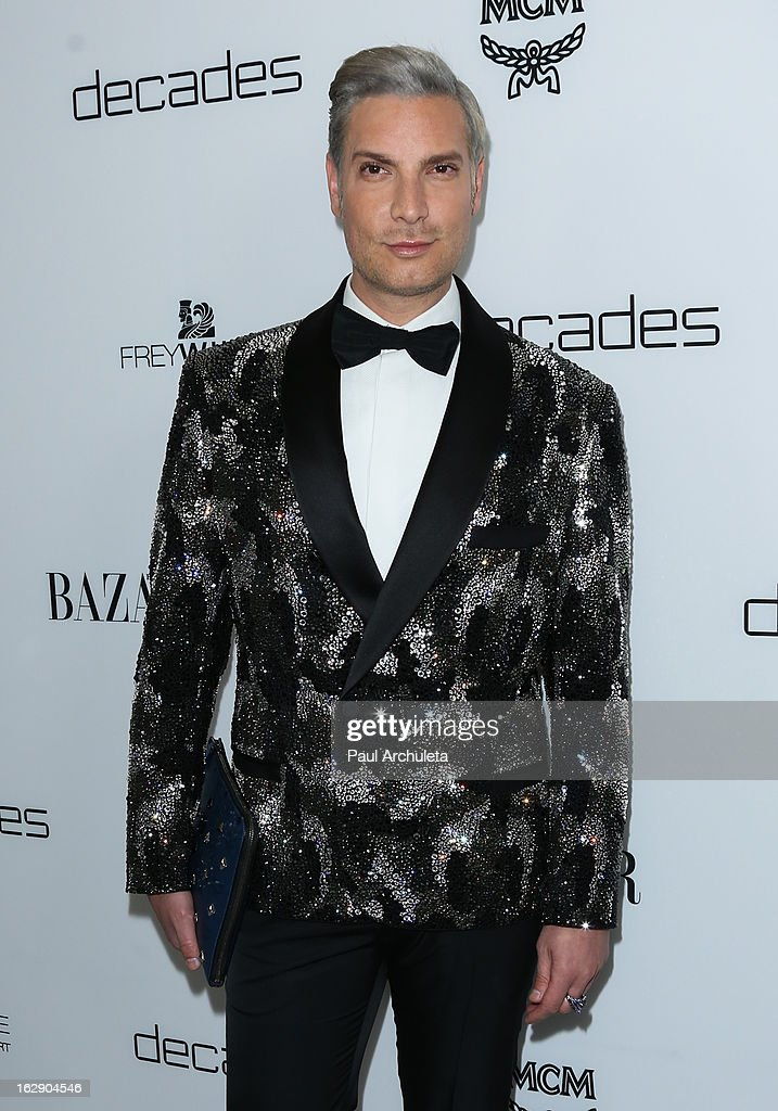 Cameron Silver attends the Harper's BAZAAR celebration for the new Bravo series 'Dukes of Melrose' at The Terrace at Sunset Tower on February 28, 2013 in West Hollywood, California.