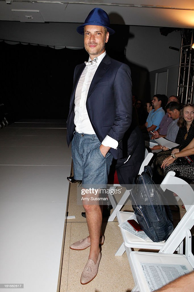 <a gi-track='captionPersonalityLinkClicked' href=/galleries/search?phrase=Cameron+Silver&family=editorial&specificpeople=546426 ng-click='$event.stopPropagation()'>Cameron Silver</a> attends the Marlon Gobel Spring 2013 fashion show during Mercedes-Benz Fashion Week at the New York Public Library on September 8, 2012 in New York City.