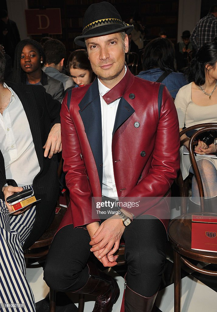 <a gi-track='captionPersonalityLinkClicked' href=/galleries/search?phrase=Cameron+Silver&family=editorial&specificpeople=546426 ng-click='$event.stopPropagation()'>Cameron Silver</a> attends the Tommy Hilfiger Fall 2013 Men's Collection fashion show during Mercedes-Benz Fashion Week at Park Avenue Armory on February 8, 2013 in New York City.