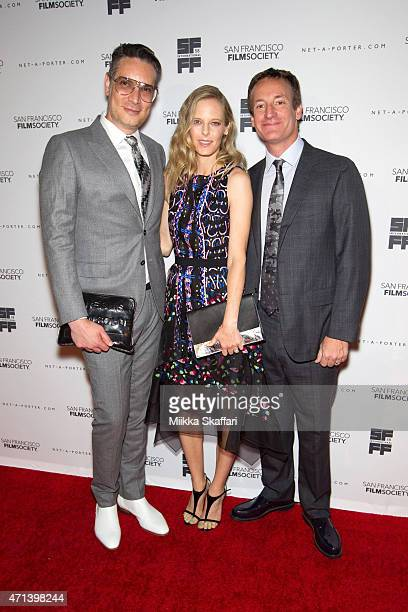 Cameron Silver Katie Traina and Todd Traina arrive at the Film Society Awards night at 58th San Francisco International Film Festival at The Armory...