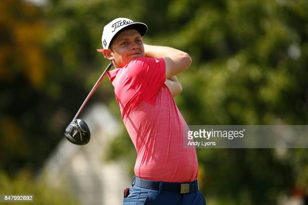 Cameron Smith of Australia hits his tee shot on the fourth hole during the third round of the BMW Championship at Conway Farms Golf Club on September...