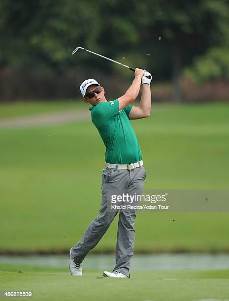 Cameron Smith of Australia in action during round three of the CIMB Niaga Indonesian Masters at Royale Jakarta Golf Club on April 26 2014 in Jakarta...