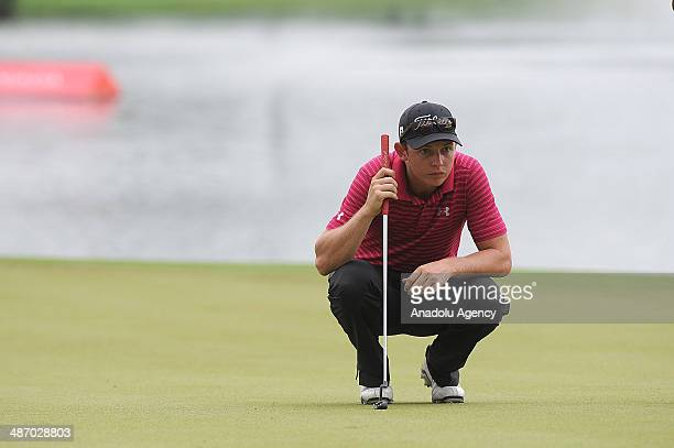 Cameron Smith of Australia in action during the final round of the CIMB Niaga Indonesian Masters at Royale Jakarta Golf Club on April 27 2014 in...