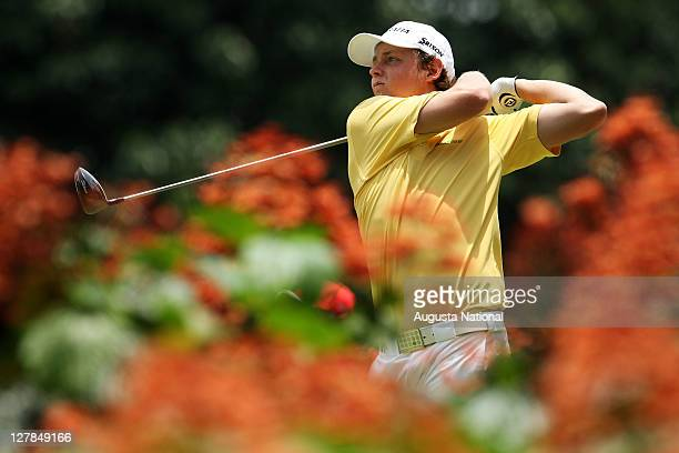 Cameron Smith of Australia plays from the 12th tee during day four of the 2011 Asian Amateur Championship at the Singapore Island Country Club on...