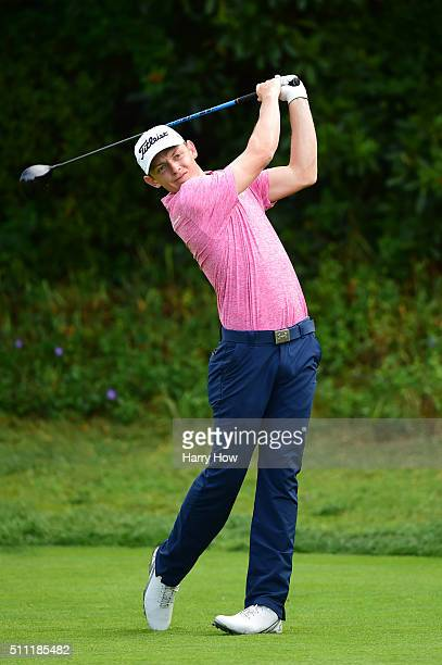 Cameron Smith of Australia tees off on the 13th hole during round one of the Northern Trust Open at Riviera Country Club on February 18 2016 in...