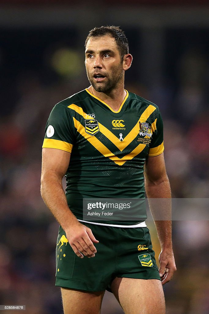 <a gi-track='captionPersonalityLinkClicked' href=/galleries/search?phrase=Cameron+Smith+-+Rugby+League+Player&family=editorial&specificpeople=453295 ng-click='$event.stopPropagation()'>Cameron Smith</a> of the Kangaroos looks on during the International Rugby League Trans Tasman Test match between the Australian Kangaroos and the New Zealand Kiwis at Hunter Stadium on May 6, 2016 in Newcastle, Australia.