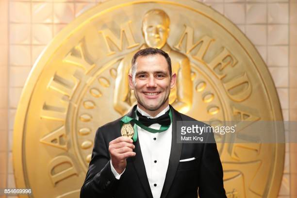 Cameron Smith of the Storm poses after winning the Dally M Medal during the 2017 Dally M Awards at The Star on September 27 2017 in Sydney Australia