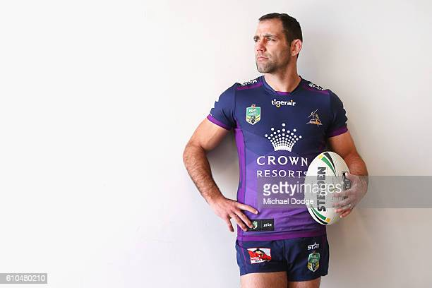 Cameron Smith of the Storm poses during a Melbourne Storm NRL media opportunity at AAMI Park on September 26 2016 in Melbourne Australia