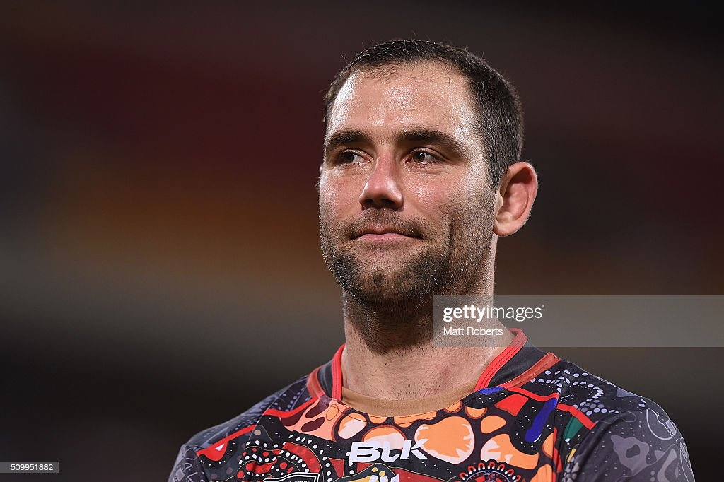 <a gi-track='captionPersonalityLinkClicked' href=/galleries/search?phrase=Cameron+Smith+-+Rugby+League+Player&family=editorial&specificpeople=453295 ng-click='$event.stopPropagation()'>Cameron Smith</a> of the World All Stars looks on after the NRL match between the Indigenous All-Stars and the World All-Stars at Suncorp Stadium on February 13, 2016 in Brisbane, Australia.